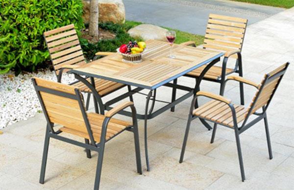 Bàn ghế quán ăn sân vườn – ngoài trời